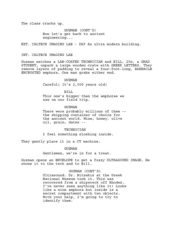 Excerpt from 'Saving Camelot' screenplay by Larry Mintz and Marvin J. Wolf. p. 5