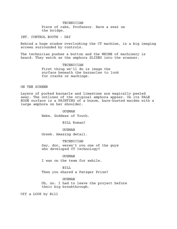 Excerpt from 'Saving Camelot' screenplay by Larry Mintz and Marvin J. Wolf. p. 6
