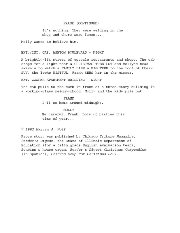 'The Bicycle,' Screenplay excerpt by Marvin J. Wolf